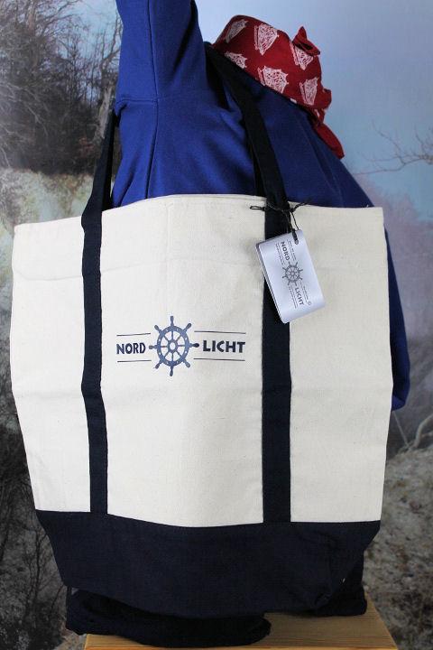 Strandtasche Nordlicht Beige / Blau