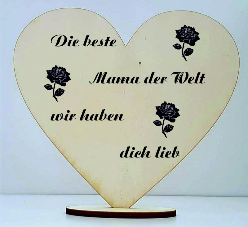 Herz aus Speerholz inkl. individueller Gravur