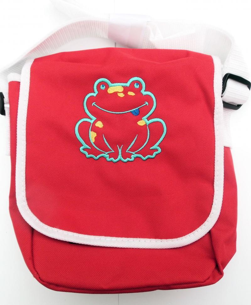 Kindergartentasche Rot mit Frosch