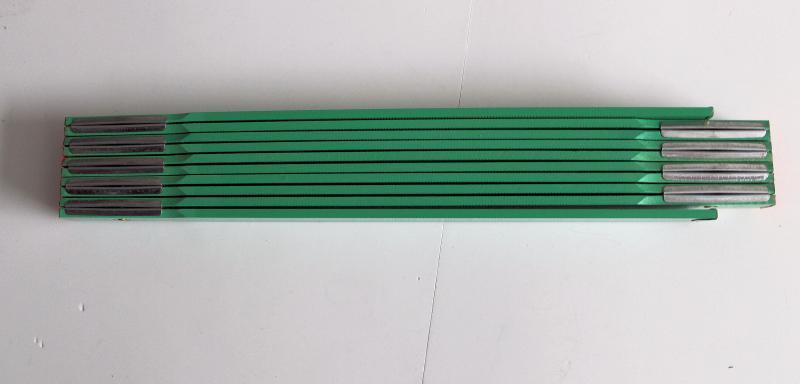Zollstock Grün mit Lasergravur
