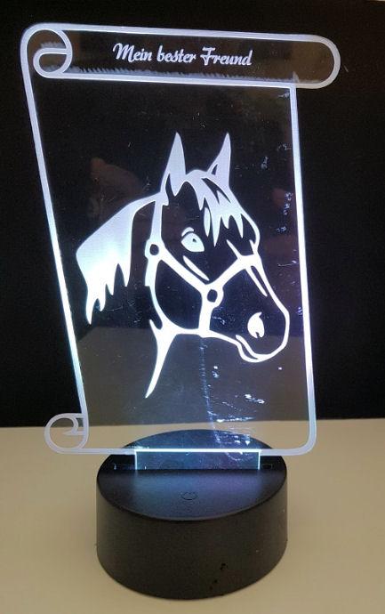 Pferd auf Acryl mit LED