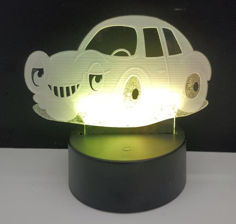 LED Nachtlicht Auto Tischlampe Nachtlampe Kinderzimmer USB Geschenk Dekor