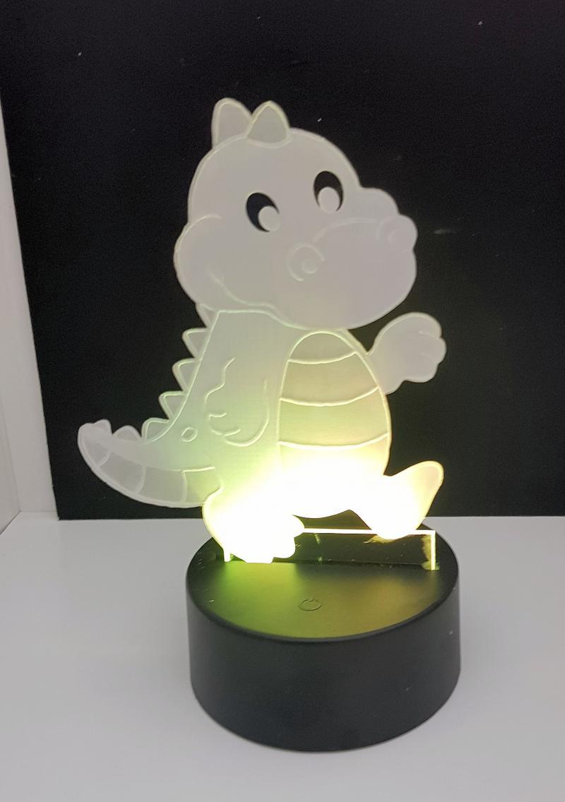 LED Nachtlicht Dino Tischlampe Nachtlampe Kinderzimmer USB Geschenk Dekor