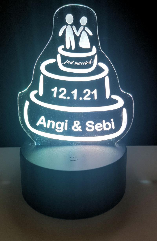 LED Bild Hochzeitstorte