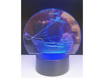 LED Kogge mit LED Geschenk Dekor