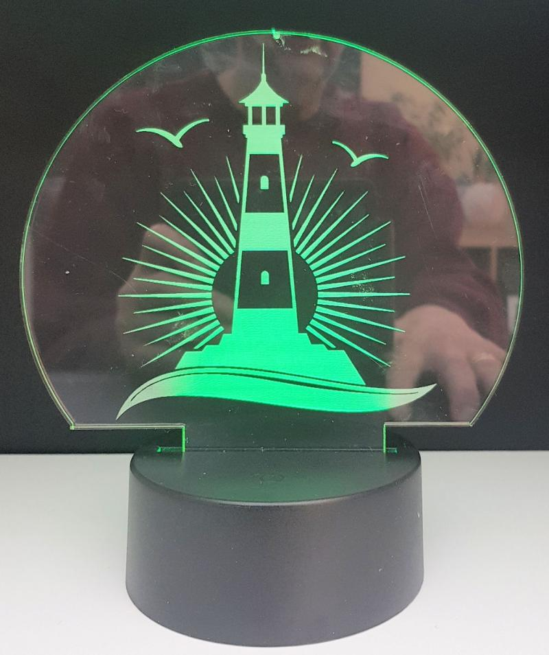 LED Leuchtturm mit LED Geschenk Dekor
