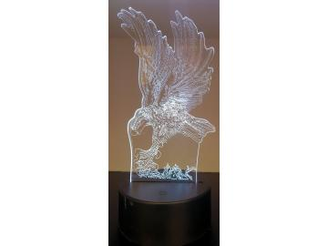 LED Bild Adler Tischlampe Nachtlampe Kinderzimmer USB Geschenk Dekor