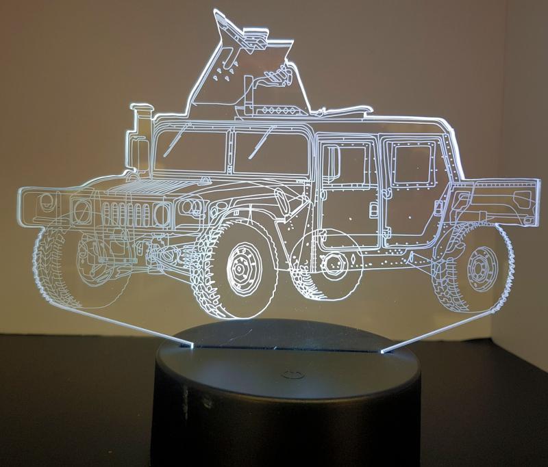 LED Bild Jeep Tischlampe Nachtlampe Kinderzimmer USB Geschenk Dekor