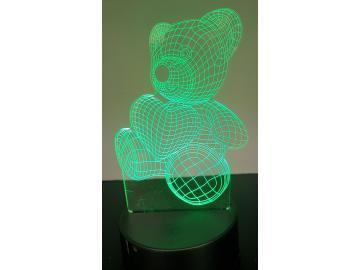 LED Bild Teddy 3d Tischlampe Nachtlampe Kinderzimmer USB Geschenk Dekor