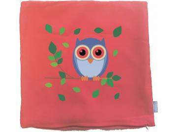 Kissenbezug 40 x 40 cm rot mit Eule