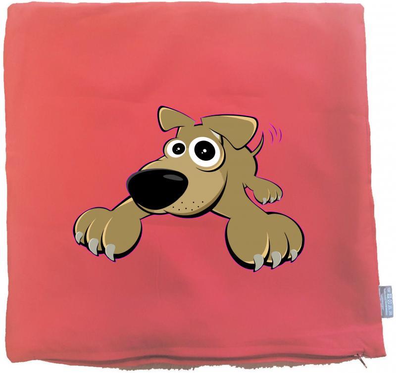 Kissenbezug 40 x 40 cm rot mit Wolf