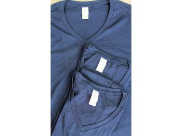 3 x Gildan Lady´s T-Shirt S Navy Baumwolle Deluxe Softstyle Ring Spun