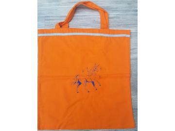 Baumwolltasche Orange mit Einhorn