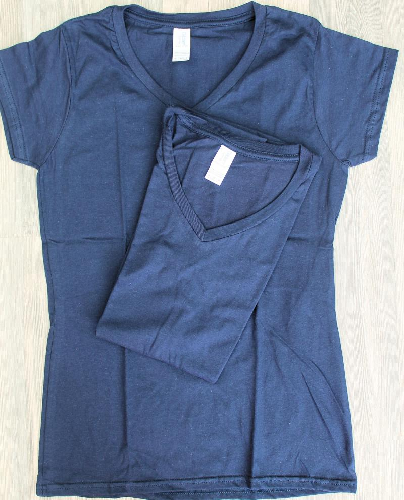 2 x Gildan Lady´s T-Shirt M Navy Baumwolle Deluxe Softstyle Ring Spun