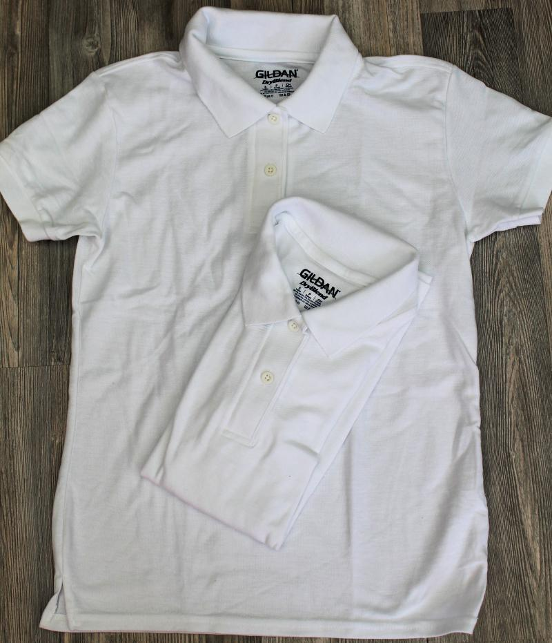 2 x Gildan Lady´s Dryblend Pique Poloshirt S Weiß