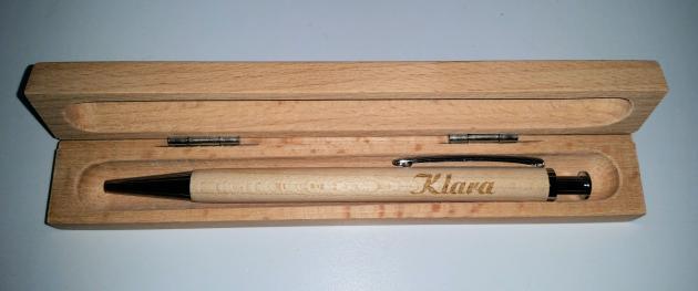 Kugelschreiber (Birke) Holz in Box mit schöner Gravur