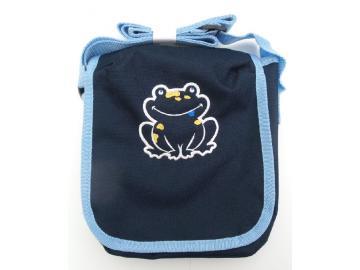 Kindergartentasche Blau mit Frosch