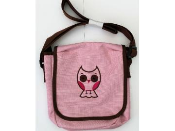 Kindergartentasche Rosa mit Eule