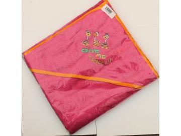 Kapuzenhandtuch pink 100 x 100 cm