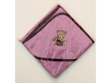 Kapuzenbadetuch Teddy 80 x 80 cm