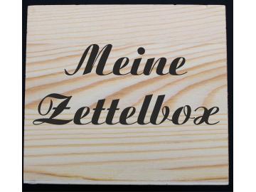 Zettelbox aus Holz mit Lasergravur