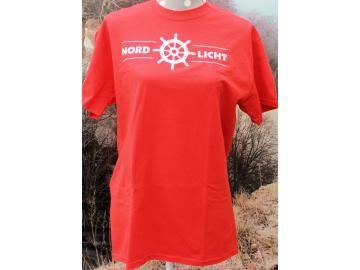 T-Shirt Nordlicht rot