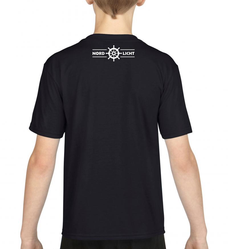 T-Shirt Nordlicht Kids Schwarz