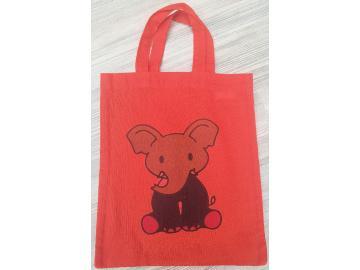 Baumwolltasche 25,5 x 21,5 cm Rot mit Elefant