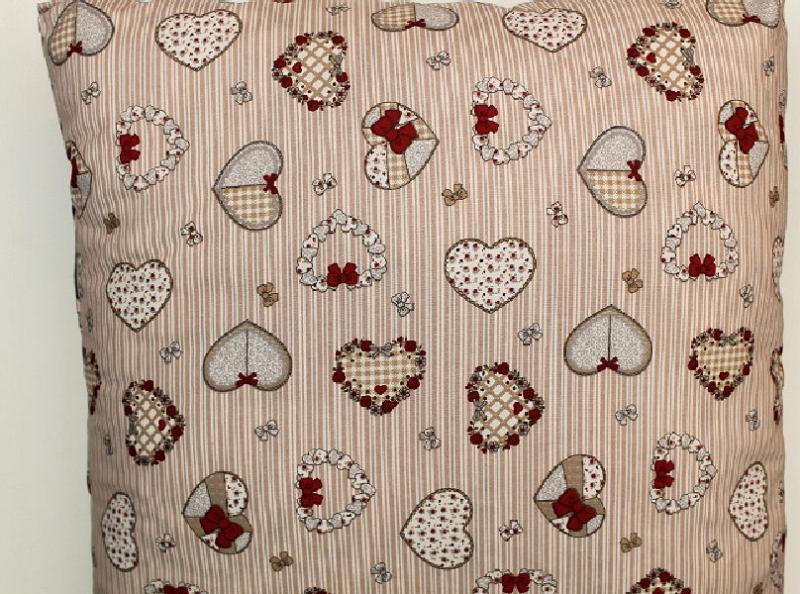 Kissen Herzen mit Füllung 40 x 40 cm
