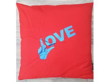 Kissenbezug 40 x 40 cm Rot LOVE