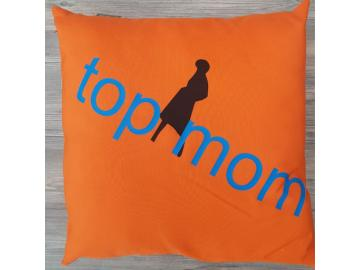 Kissenbezug 40 x 40 cm Orange top mom