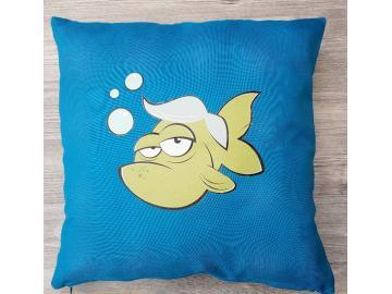 Kissenbezug 40 x 40 cm Türkis Fisch