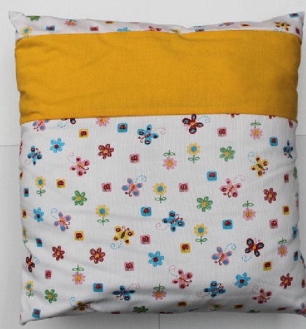 Kissenbezug Blumen mit Füllung  40 x 40 cm