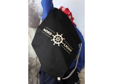 Rucksack Nordlicht Navy Druck Beige
