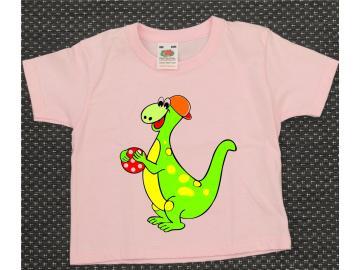 T-Shirt Kid´s Rosa mit Druck Dino