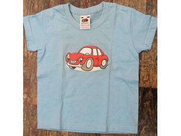 T-Shirt Kid´s Hellblau mit Druck Auto