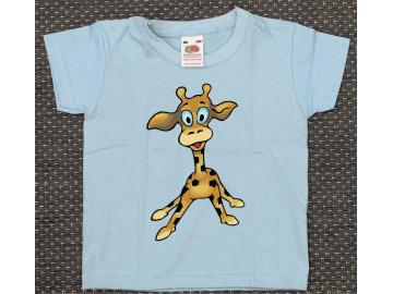 T-Shirt Kid´s Hellblau mit Druck Giraffe