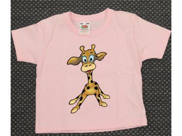 T-Shirt Kid´s Rosa mit Druck Giraffe