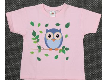 T-Shirt Kid´s Rosa mit Druck Eule