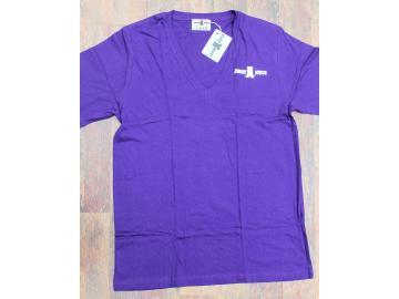 T-Shirt Lila tiefer Ausschnitt Jonny Joyce
