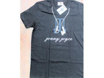 T-Shirt schwarz Jonny Joyce mit Kopfhörer