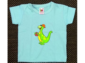 T-Shirt Kid´s Hellblau mit Druck Dino