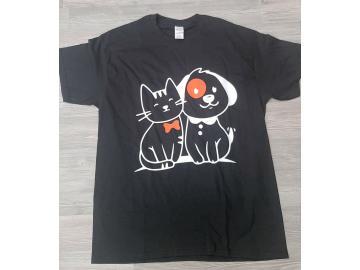 T-Shirt mit Druck Katze und Hund